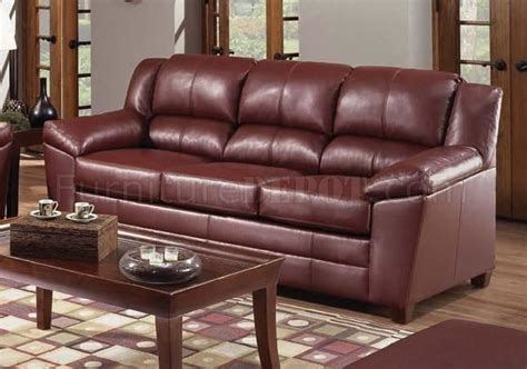 wine on couch 4955 wine bonded leather sofa loveseat set by just in time