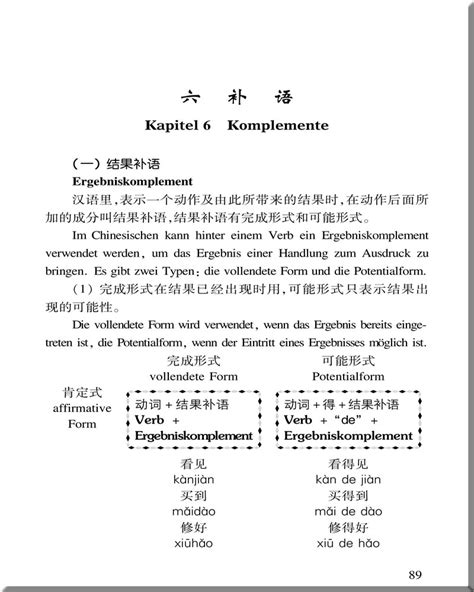 Geländer Komplettset by Chinesische Grammatik Leicht Gemacht Zweisprachig
