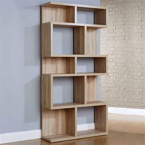 Modern Shelf Units by Pembroke Display Unit Bookcase 5 Shelves Wood Oak Veneer