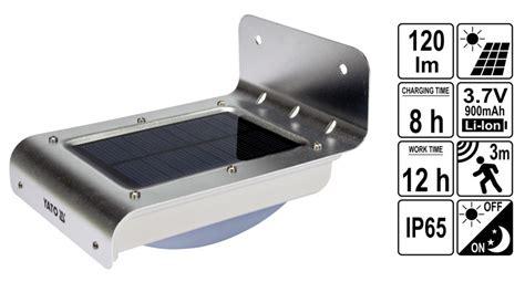 le bewegungsmelder batterie außen led solarleuchte aussen wandleuchte 16smd led 120lm mit