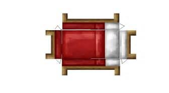 minecraft crafting bett papercraft bed r3d craft