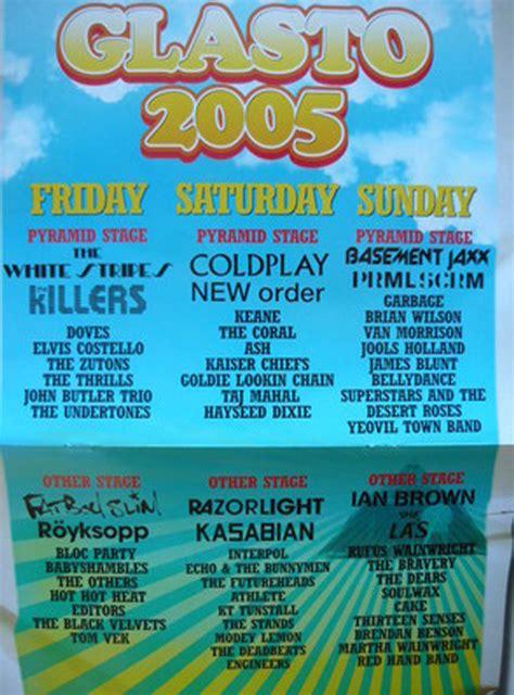glastonbury festival line ups wikipedia the free glastonbury festival through the years gt see tickets blog