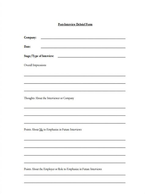 debriefing form template awesome debriefing form template contemporary exle