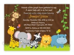 baby shower invitaciones de safaris imagui