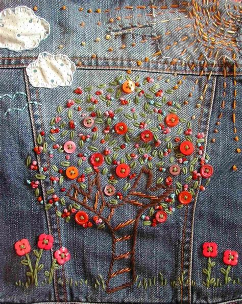 embroidery denim embroidered denim applique embroidery embroidered