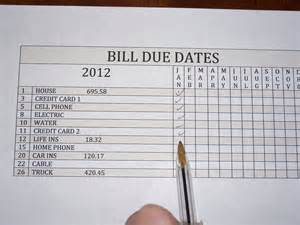 organize bills the clutter diary organizing bills and bill payments
