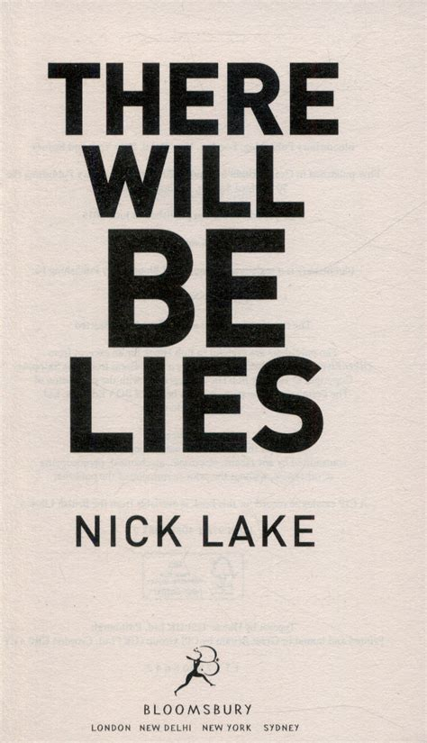 there will be lies by lake nick 9781408853832 brownsbfs
