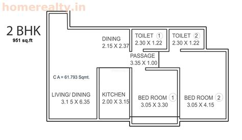 2 Bhk Plan | buy 2 bhk flat at prisha heights in nl complex dahisar