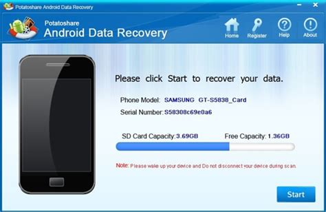 android file recovery potatoshare android data recovery