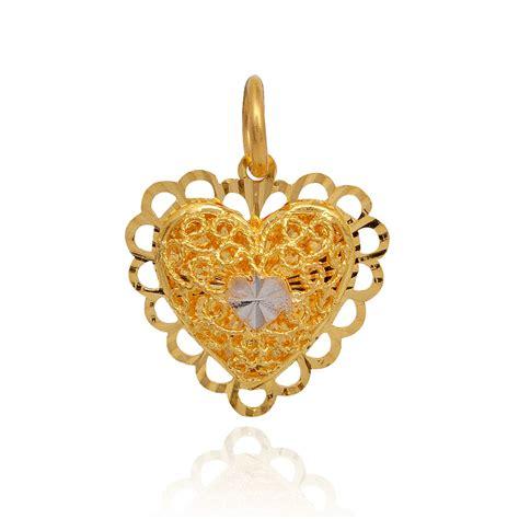 two layer beautiful gold pendant