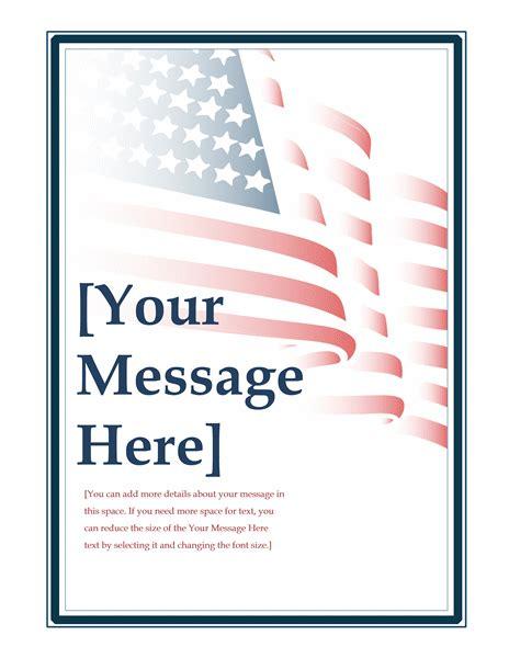 American Flag Flyer Free Patriotic Flyer Template