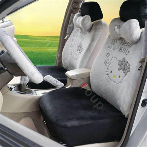 pink plush seat covers buy wholesale hello oulilai car seat covers plush