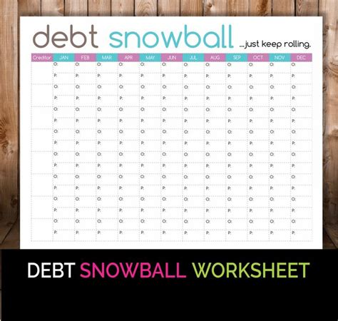 Pay Debt Spreadsheet Free by Debt Snowball Worksheet Budget Printable Debt Snowball