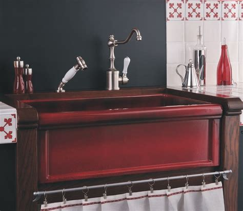 Herbeau red boreal fireclay farmhouse sink farmhouse kitchen other metro by herbeau