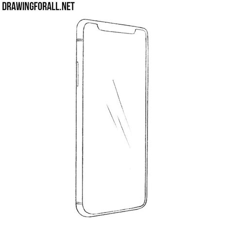 I Phone Sketches by How To Draw An Iphone X Drawingforall Net