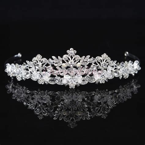 Diadem Hochzeit by New Wedding Tiara Crown Rhinestone Floret Bridal
