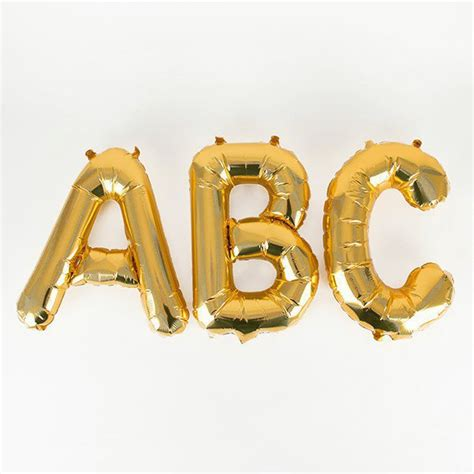 Small Letter Balloons