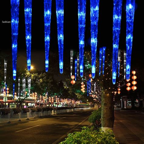 new 30cm 32led 8 tubes blue led icicle light tube dripping