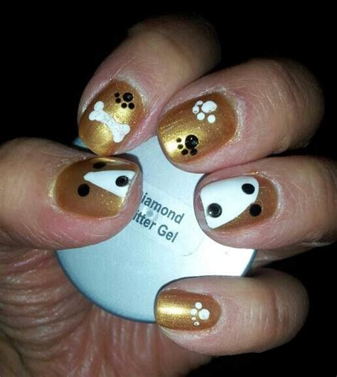 painting dogs nails 25 best ideas about nail on nails animal nail designs and
