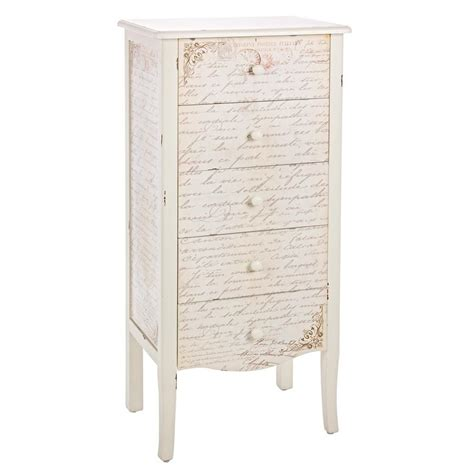 Hohe Kommode Mit Schubladen by Shakespeare 5c Hohe Kommode Aus Holz Stil Shabby Chic