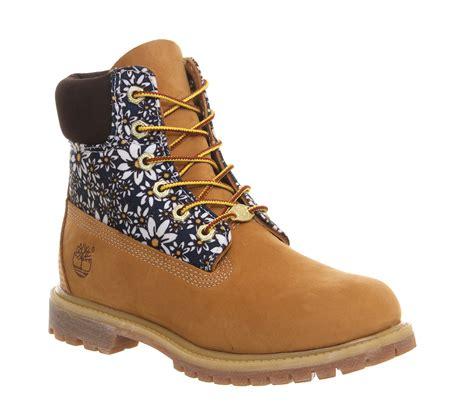 womens timberland premium 6 boot wheat print nubuck