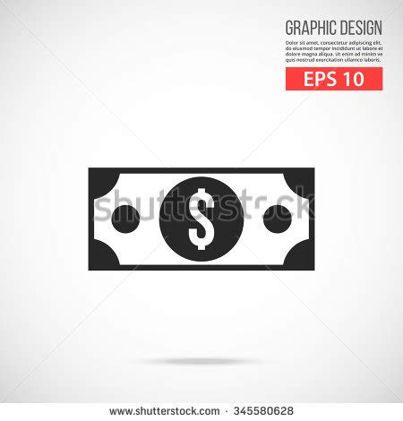 Bill Marsilii And High Concept by Dollar Bill Icon Black Pictogram Modern 스톡 벡터 345580628