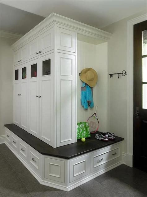 Entryway Storage Cabinet White Built In Mudroom Cabinets Traditional Kitchen