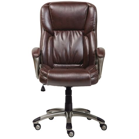 serta brown leather office chair serta at home 43520 executive office chair in biscuit