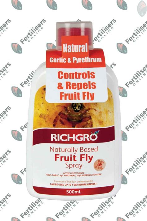 fruit fly spray naturally based fruit fly spray concentrate 500ml richgro