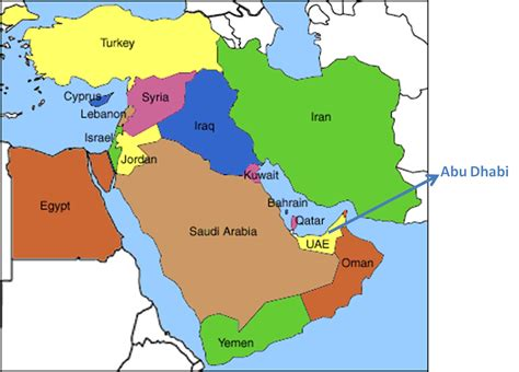 middle east map gulf my parallel august 2010