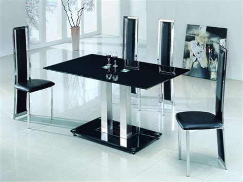 black glass dining table kobe table