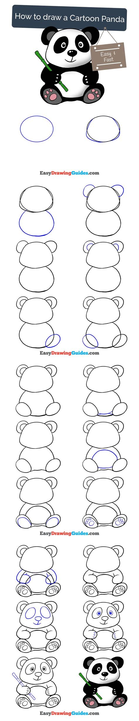 typography tutorial step by step draw pattern learn how to draw a cartoon panda easy
