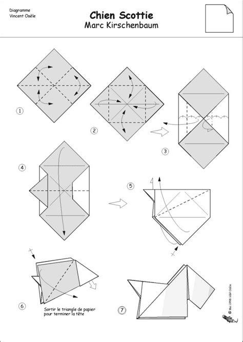 Origami Scottie - for an origami scottie patterns