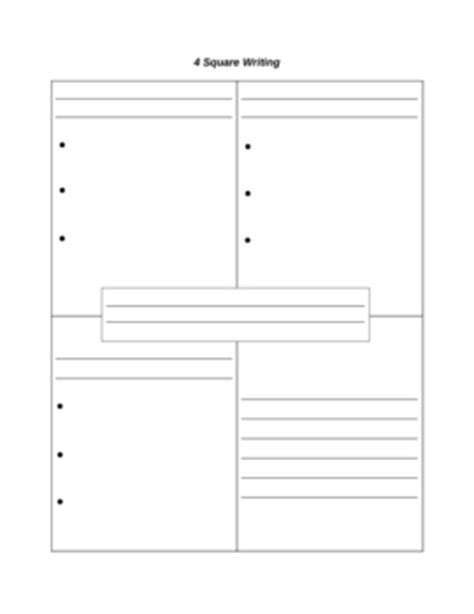 Four Square Writing Method Template by 4 Square Writing Template By Paula Jett Teachers Pay