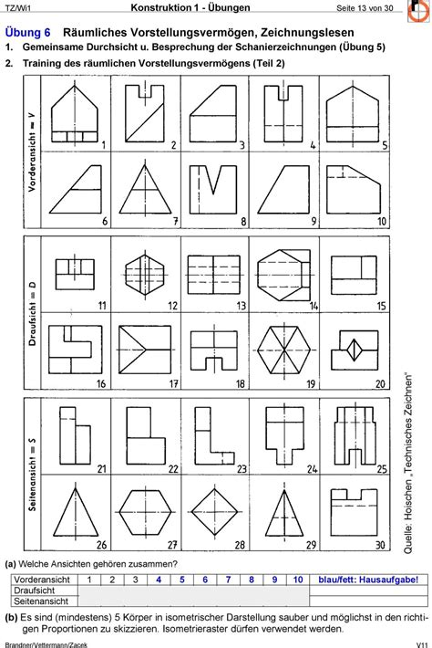 Grundriss Zeichnen konstruktion 1 220 bungsaufgaben pdf