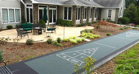 greens western  york outdoor shuffleboard court