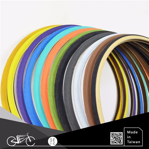 tire color taiwan fixed gear bike parts 700 x 25c colored bicycle