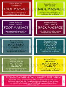 massage coupons for him or her instant by whilehewasnapping