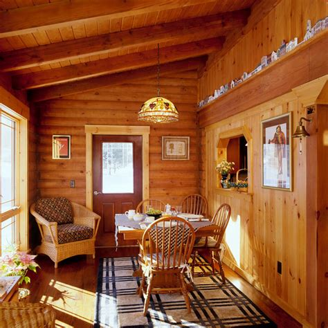 littleton log home 9931 traditional dining room