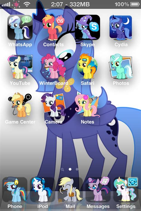 theme line little my equestria daily mlp stuff mlp iphone 4 theme