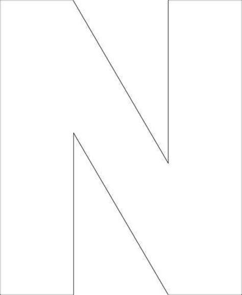 free printable upper case alphabet template letter n