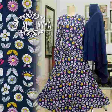Baju Busana Muslim Gamis Syari Navy Mocca Khimar Berkualitas baju gamis motif geranium premium busana muslim