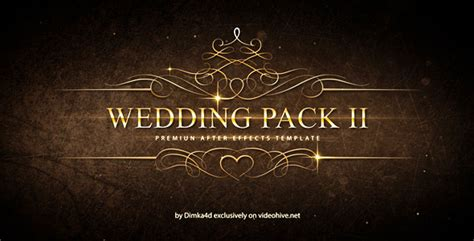 Wedding Pack Gold Titles Slideshow Movie Trailer For Love Romance Marriage 8129691 After Effects Wedding Title Templates After Effects