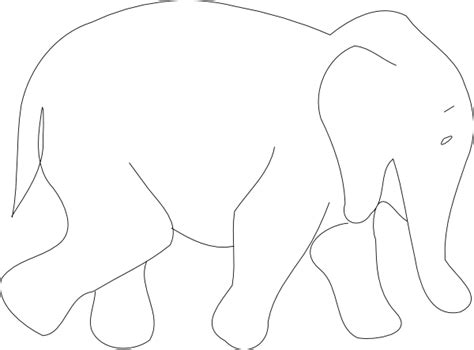 elephant template elephant outline clip at clker vector clip
