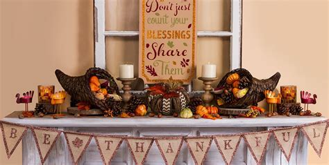 thanksgiving home decorations ideas thanksgiving home decor party city