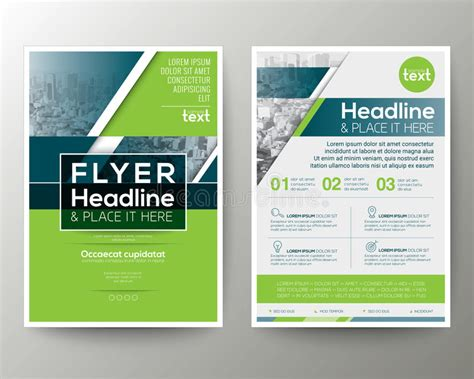 poster design layout download green and blue geometric poster brochure flyer design