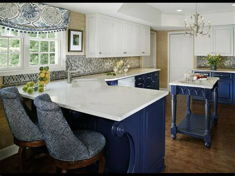 Blue Kitchen Decor Ideas White And Blue Kitchen Cabinets Kitchen And Decor