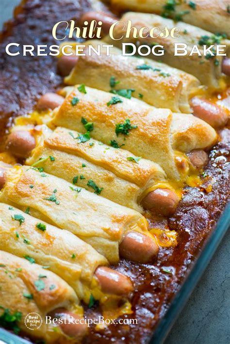 dogs in crescent rolls chili cheese crescent bake with dogs crescents crescent roll and cheese