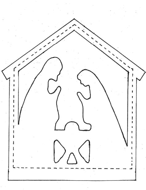 nativity card templates search results for easy nativity templates