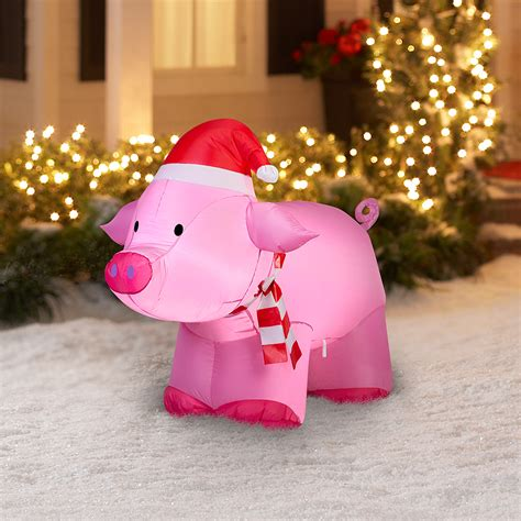 Attractive Cordless Christmas Wreaths With Lights #10: Awesome-pig-christmas-decorations-tittle.jpeg